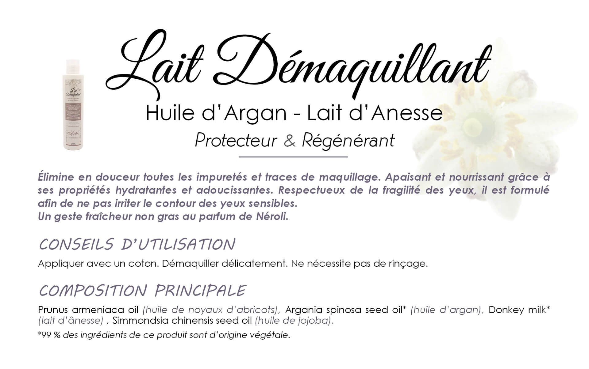 Lait Démaquillant - Exfoliant description 1